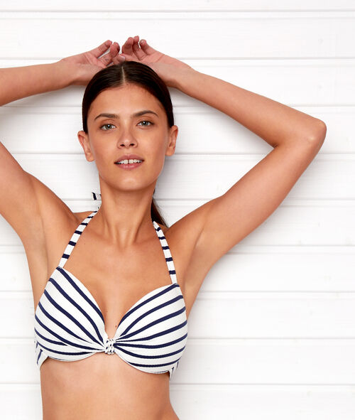Striped bikini top