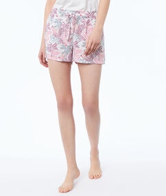 Printed shorts ecru.