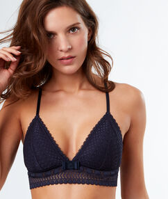 Triangle bra, racer back and underband anthracite.