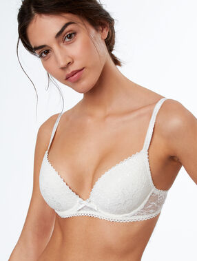 Bra no. 2 - plunging push-up ecru.