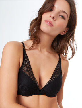 Bra no. 6 - padded triangle bra black.