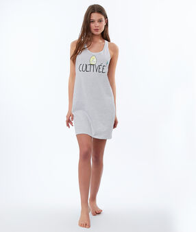 Printed statement nightdress white.