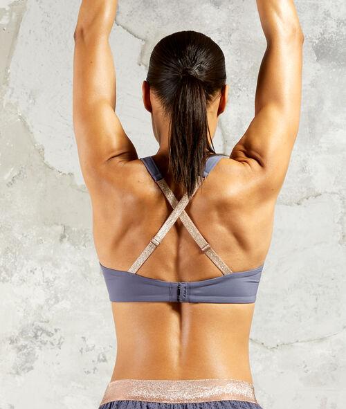 Criss-cross back bralet - high support