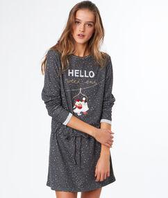 Message nightdress grey.