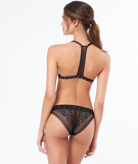 Lace knickers black.
