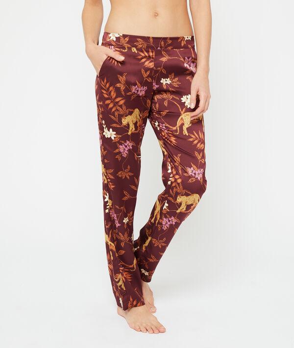 Leopard print trousers;${refinementColor}