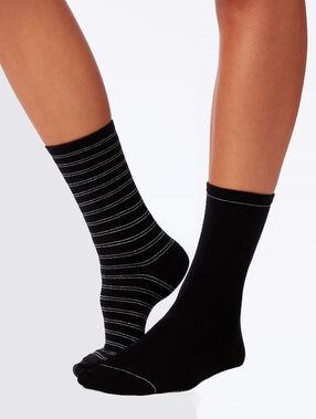 Lote de 2 calcetines fantasía negro.