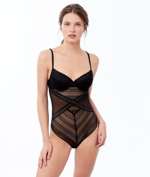 Padded lace bodysuit