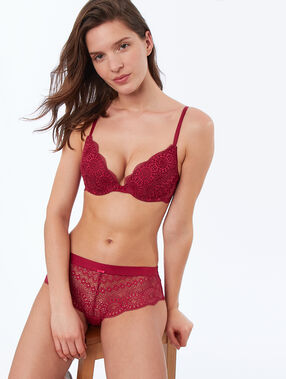 Bra no. 2 - plunging push-up, embossed lace grenadine.
