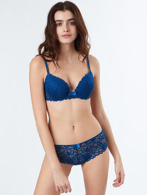 Lace shortys blue.