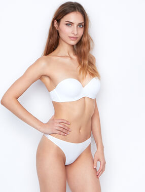 Micro and tulle brief white.