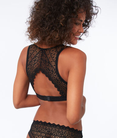 Lace triangle, structured back black.