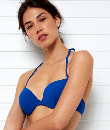 Push-up bikini top royal blue.