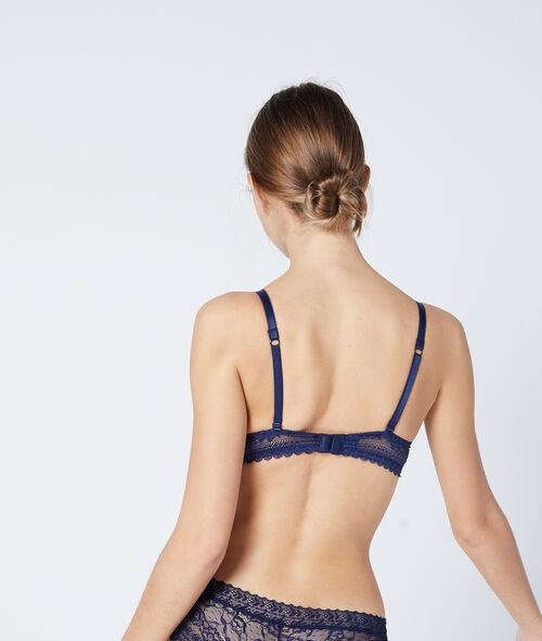 Bra No. 2 - Lace plunging push-up bra