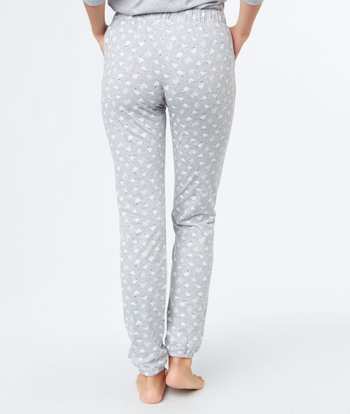 Sheep print trousers