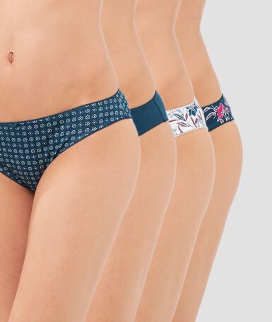 Pack of 4 briefs teal.