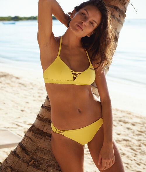 Sujetador bikini triangular escote tiras cruzadas