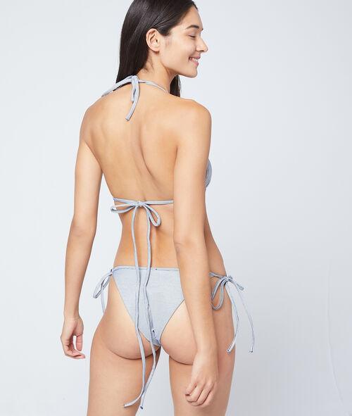 Textured triangle bikini top