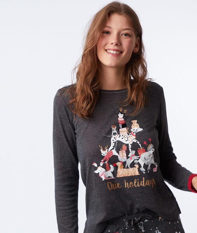 Slogan t-shirt anthracite.