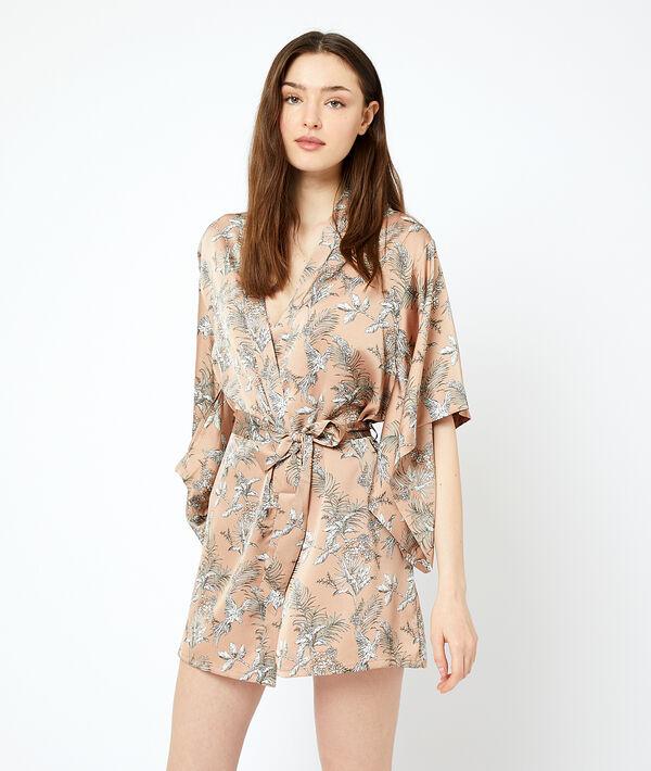 Printed kimono;${refinementColor}