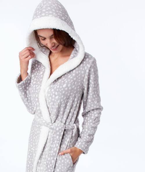 Faux fur homewear negligee
