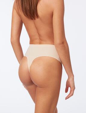 High waist thong: level 3 - figure shaping skin.