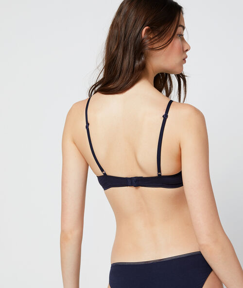 Cotton padded bra, light padding