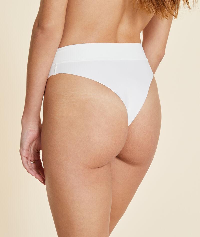 Brazilian high leg high waist briefs;${refinementColor}