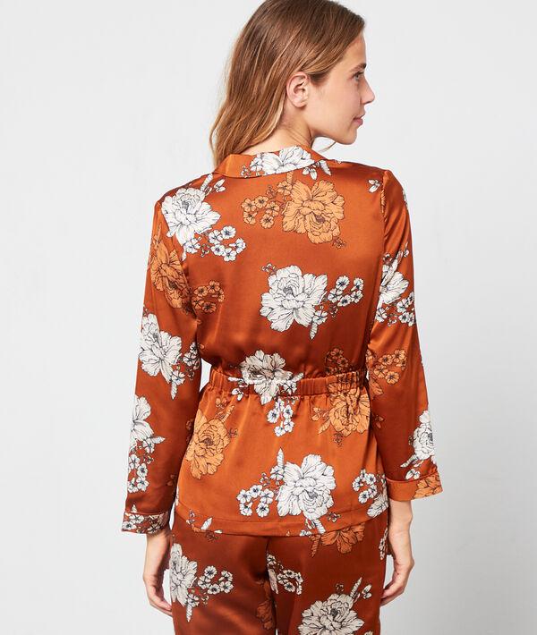 Pyjama shirt in floral print