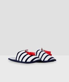 Slippers white.