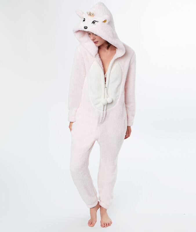 Combinaison pyjama doudou rose.