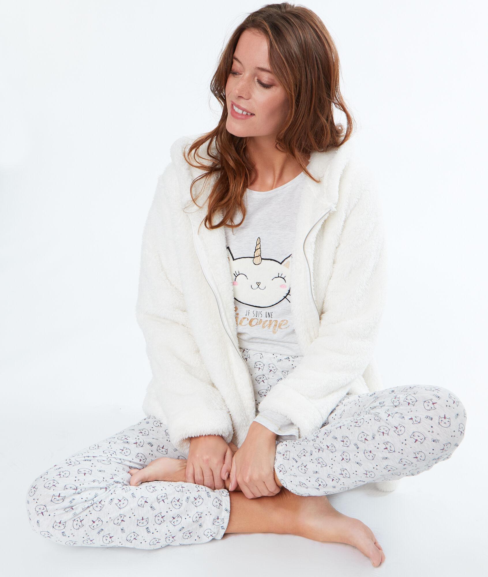 Pyjama 3 Pieces Chat Licorne Ober Beige Etam
