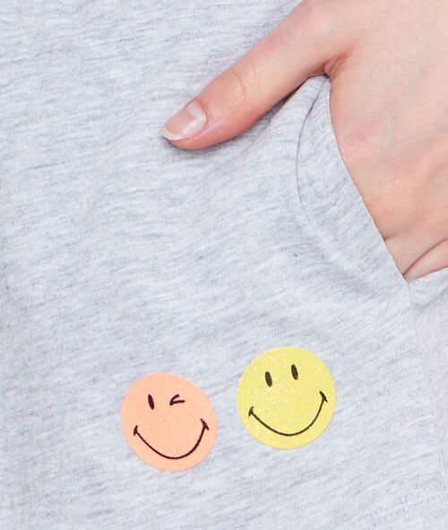Smiley printed pyjama short