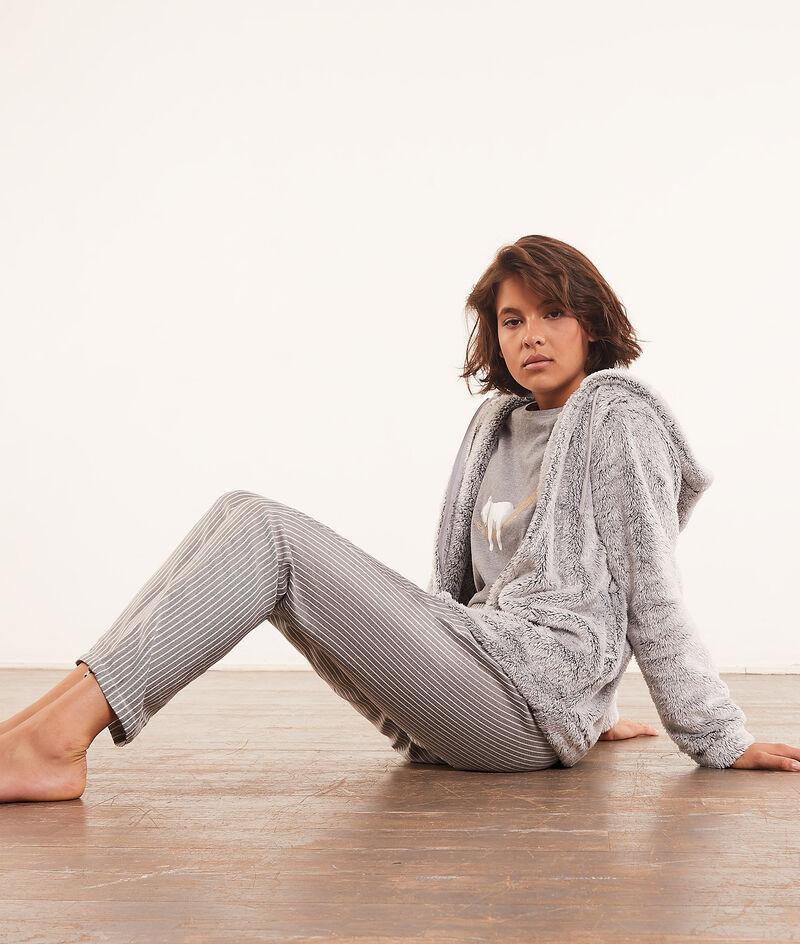 3-piece pyjama set, fleece hoodie ;${refinementColor}