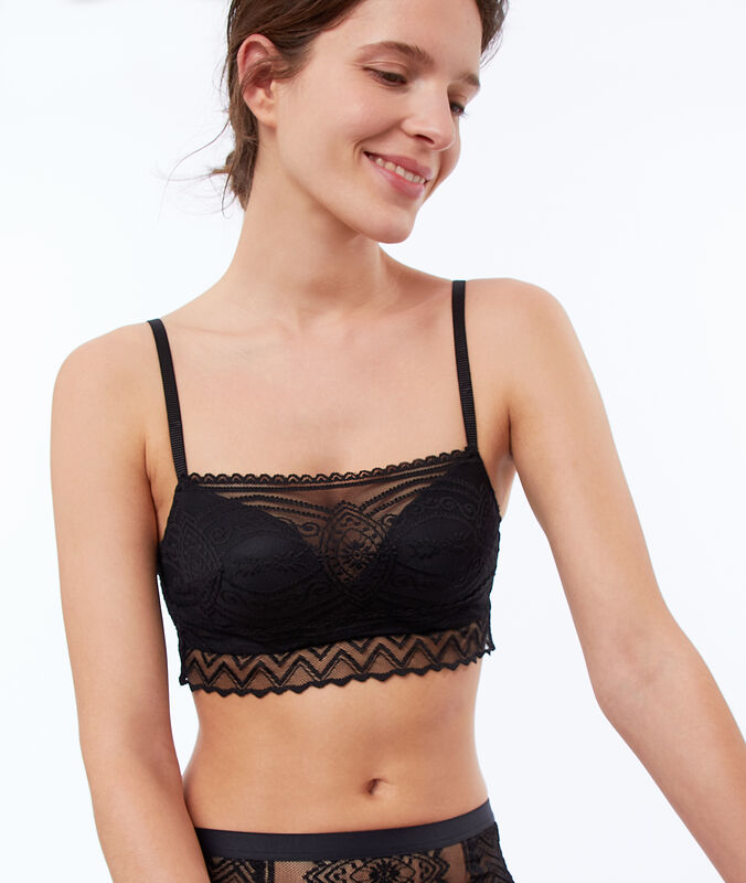 Bra no. 3 - lace and tulle push-up bra black.