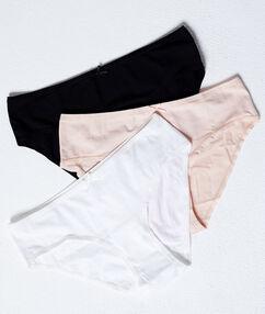 Pack of 3 cotton briefs multi-color.
