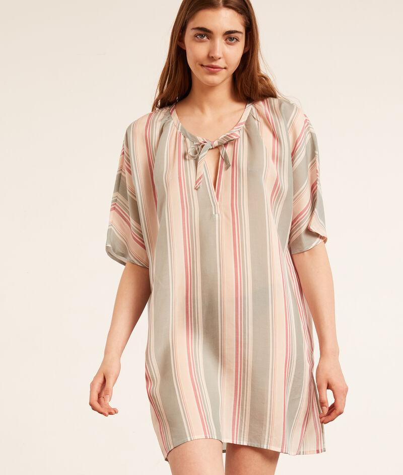 Striped nightshirt;${refinementColor}