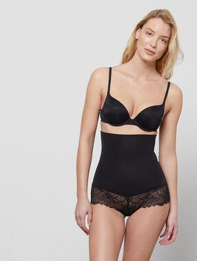 High waist briefs - level 3: figure shaping black.