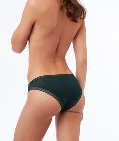 Culotte bi-matière vert.