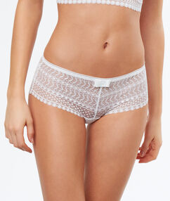 Lace shortys white.