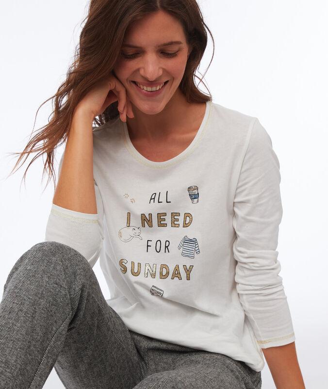 Message t-shirt ecru.