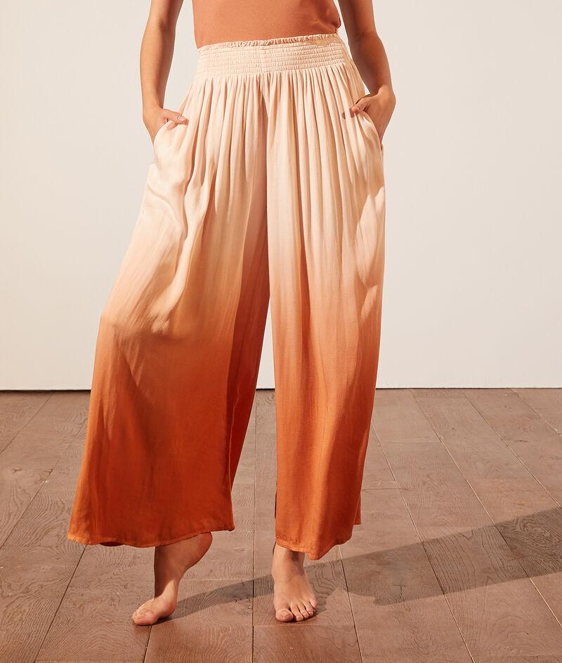 Flared pyjama pants;${refinementColor}