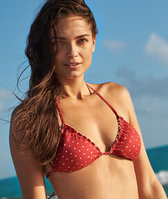 Swimwear triangle bra red.