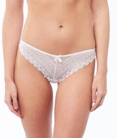 Lace thong white.