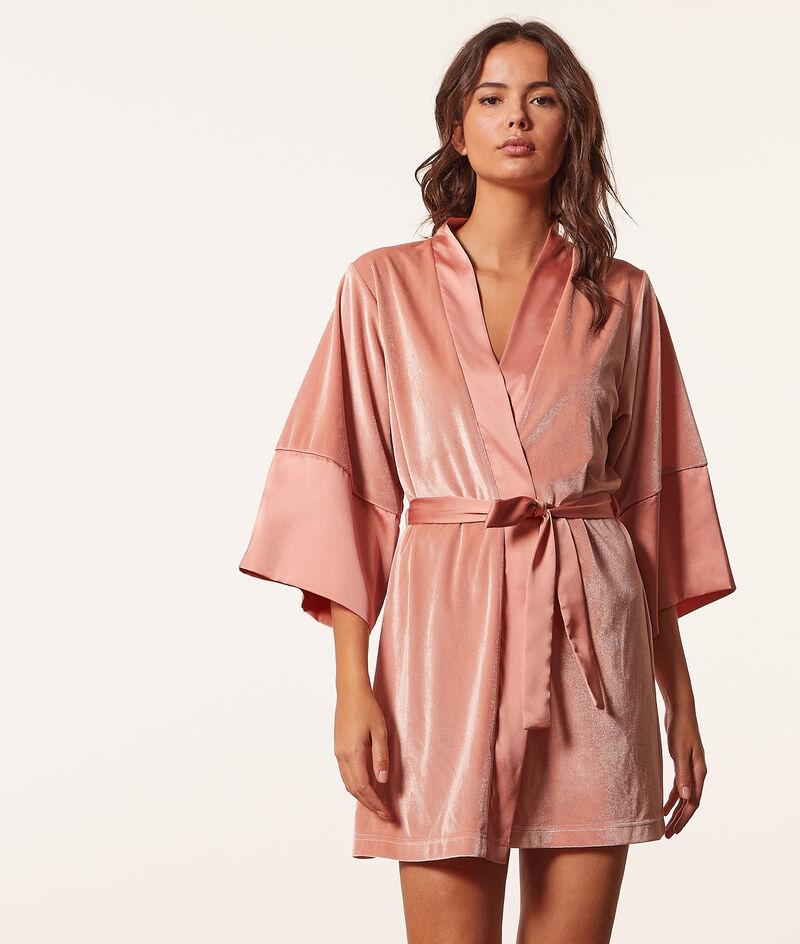 Bata tipo kimono terciopelo;${refinementColor}