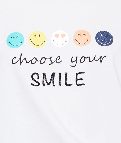 Smiley printed t-shirt