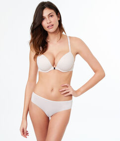 Bra no. 5 - classic padded microfiber, cross-backed powder pink.