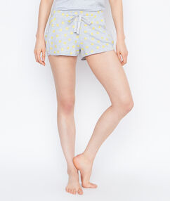 Printed pyjama shorts grey.