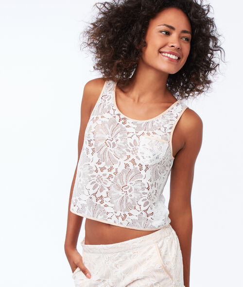 Lace openwork tank top