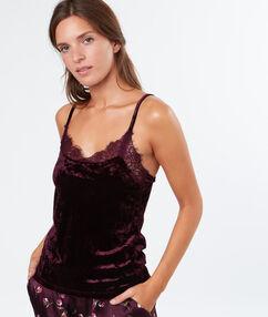 Pyjama oberteile burgundy.